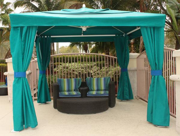 Picture of FiberBuilt Pavilion-Diamante 10 ft Umbrella with canopy - side walls