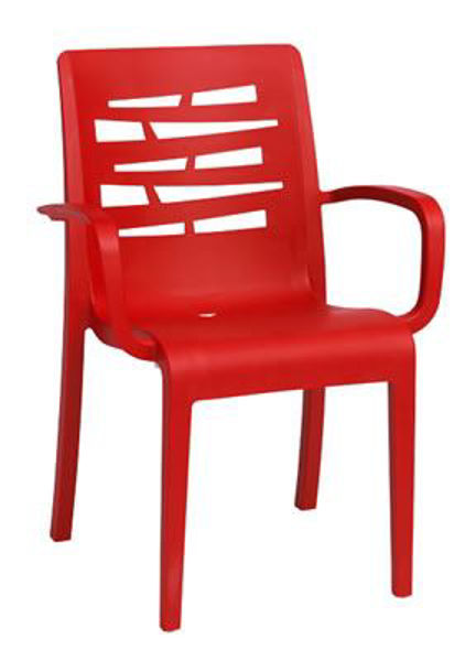 Picture of Grosfillex Essenza Stacking Armchair In Red Pack Of 4