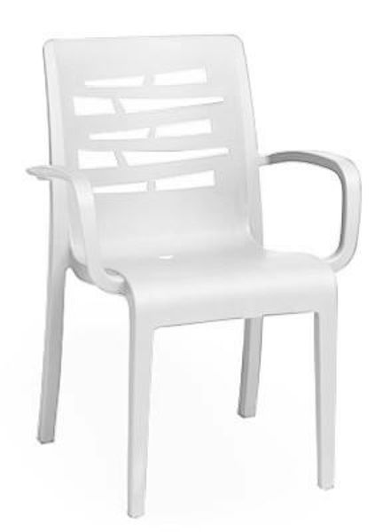 Picture of Grosfillex Essenza Stacking Armchair In White Pack Of 4