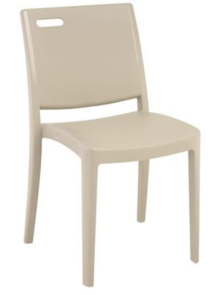 Picture of Grosfillex Metro Stacking Chair In Linen Pack Of 4