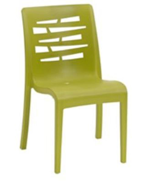 Picture of Grosfillex Essenza Stacking Chair In Fern Green Pack Of 4