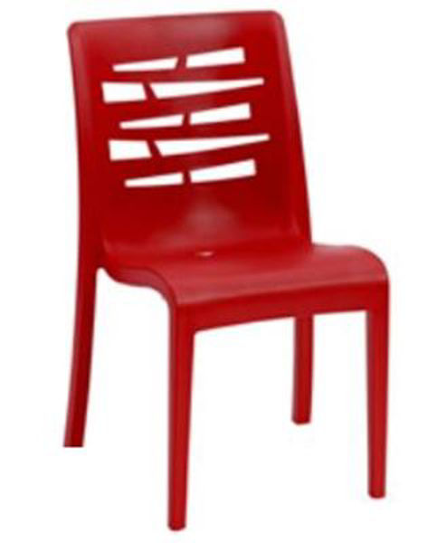 Picture of Grosfillex Essenza Stacking Chair In Red Pack Of 4