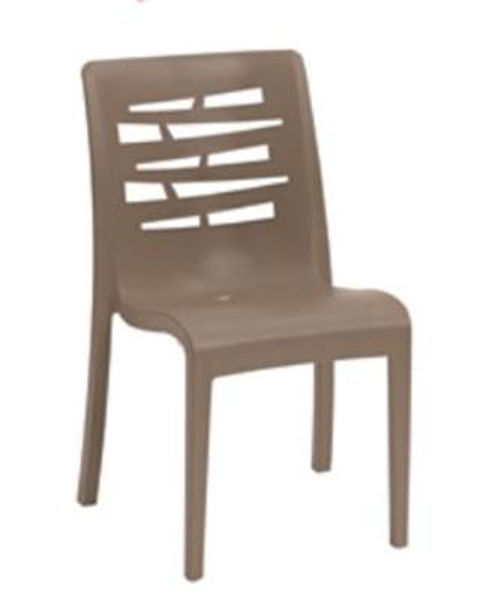 Picture of Grosfillex Essenza Stacking Chair In Taupe Pack Of 4