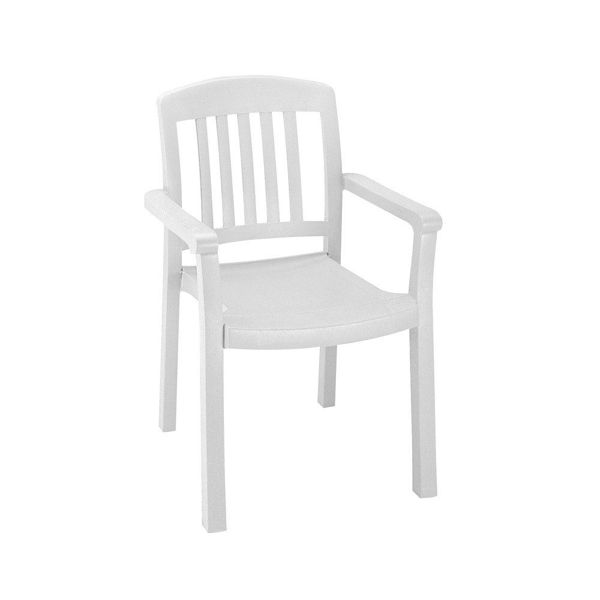 Picture of Grosfillex Atlantic Classic Stacking Armchair In White Pack Of 12