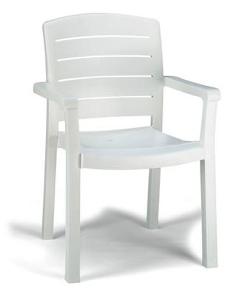 Picture of Grosfillex Acadia Stacking Armchair In White Pack Of 4
