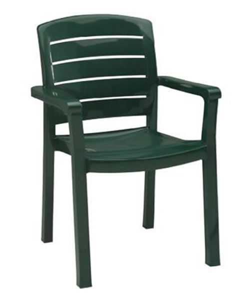 Picture of Grosfillex Acadia Stacking Armchair In Amazon Green Pack Of 4