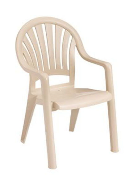 Picture of Grosfillex Pacific Fanback Stacking Armchair In Sandstone Pack Of 4