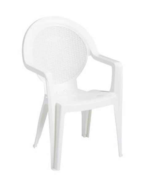 Picture of Grosfillex Trinidad Stacking Armchair In White Pack Of 4
