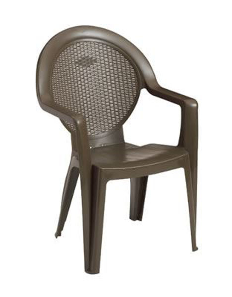 Picture of Grosfillex Trinidad Stacking Armchair In Bronze Mist Pack Of 4