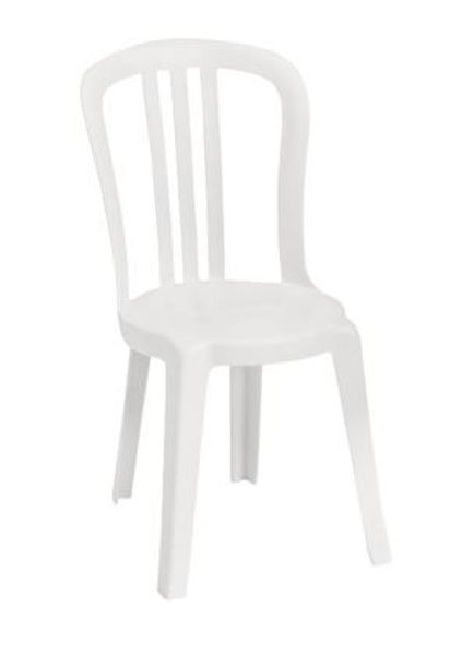 Picture of Grosfillex Miami Bistro Stacking Sidechair In White Pack Of 4