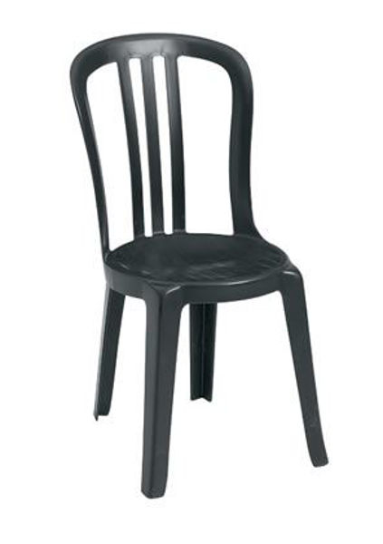 Picture of Grosfillex Miami Bistro Stacking Sidechair In Black Pack Of 4