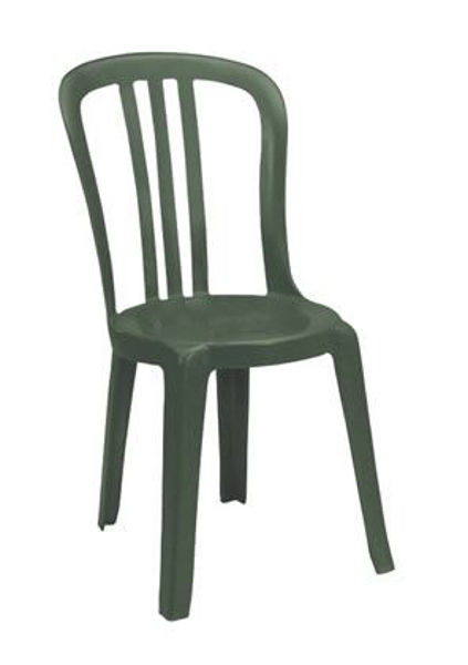 Picture of Grosfillex Miami Bistro Stacking Sidechair In Amazon Green Pack Of 4