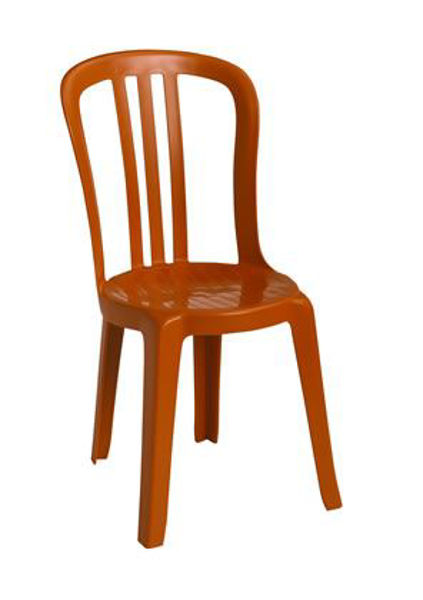 Picture of Grosfillex Miami Bistro Stacking Sidechair In Orange Pack Of 4