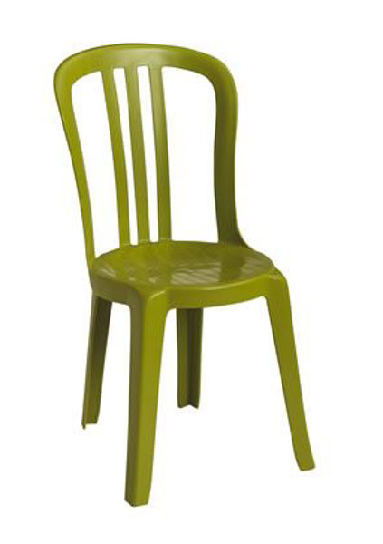 Picture of Grosfillex Miami Bistro Stacking Sidechair In Fern Green Pack Of 4