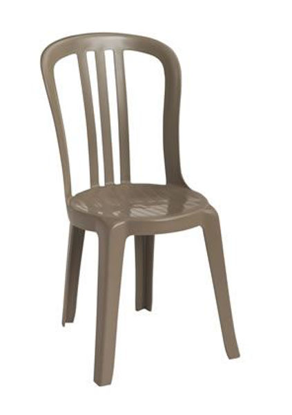 Picture of Grosfillex Miami Bistro Stacking Sidechair In Taupe Pack Of 4