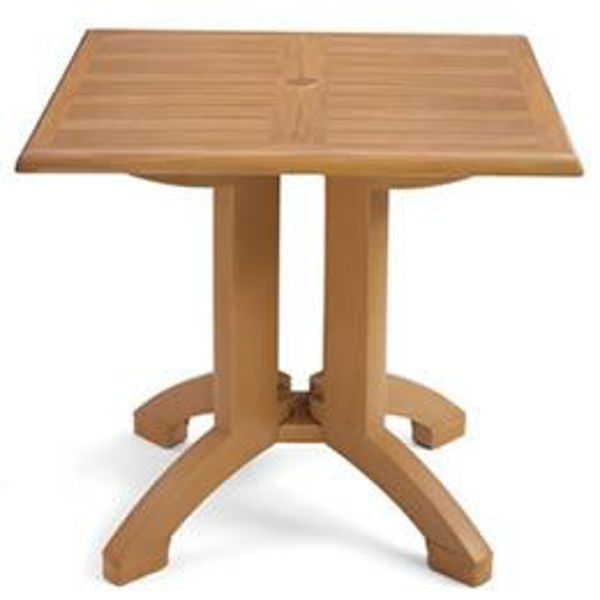 "Picture of Grosfillex Winston 36"" Square Table In Teak Decor Pack Of 1"