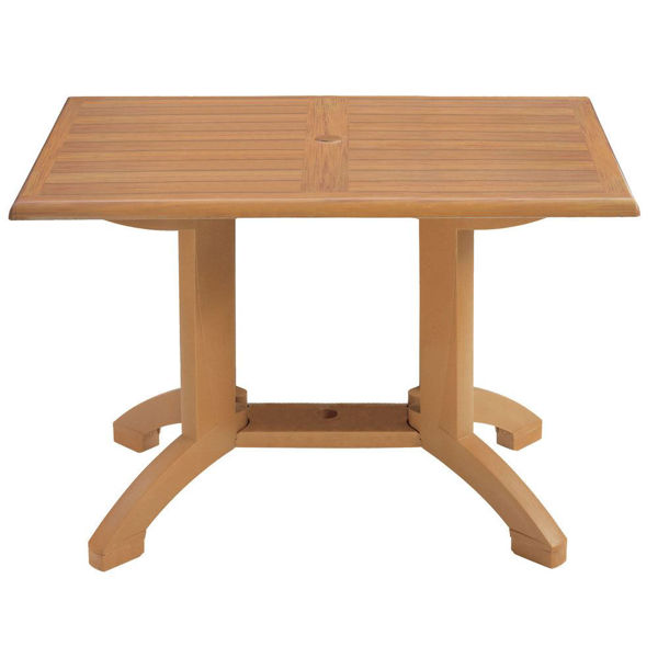 Picture of Grosfillex Winston 48' X 32' Table In Teak Decor Pack Of 1