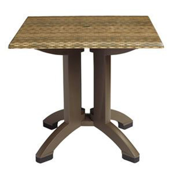 "Picture of Grosfillex Sumatra 36"" Square Table In Wicker Decor Pack Of 1"