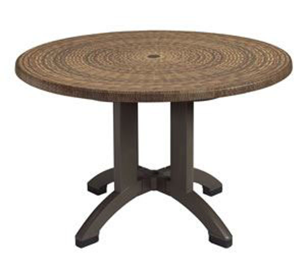"Picture of Grosfillex Sumatra 42"" Round Table In Wicker Decor Pack Of 1"