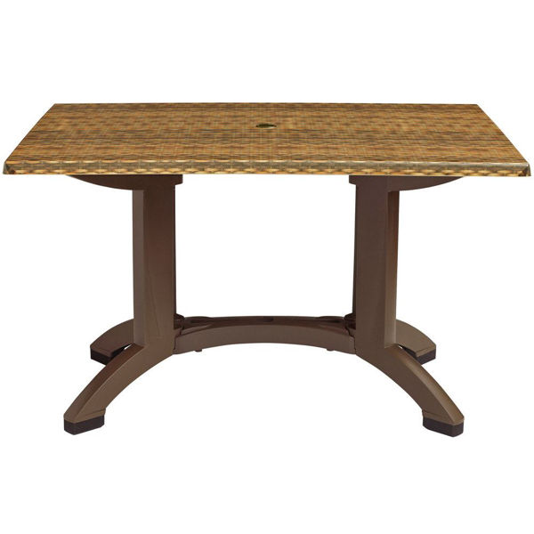 Picture of Grosfillex Sumatra 48' X 32' Table In Wicker Decor Pack Of 1
