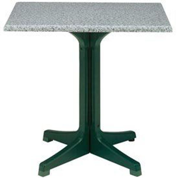 "Picture of Grosfillex 24"" Square Table Top Without Umbrella Hole In Granite Green Pack Of 1"