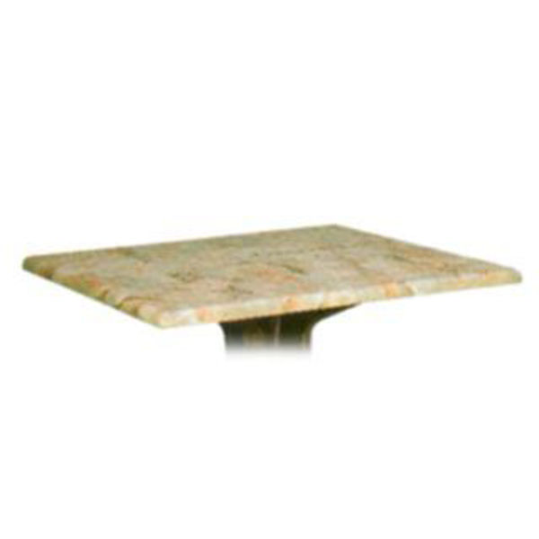 """Picture of Grosfillex 24"""" Square Table Top Without Umbrella Hole In Catalan Pack Of 1"""