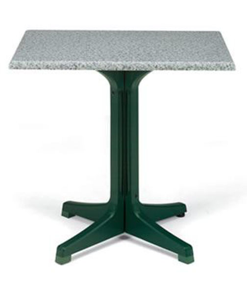 Picture of Grosfillex 24' X 32' Table Top Without Umbrella Hole In Granite Green Pack Of 1