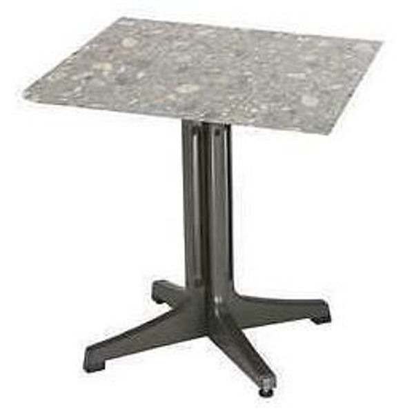 Picture of Grosfillex 24' X 32' Table Top Without Umbrella Hole In Tokyo Stone Pack Of 1