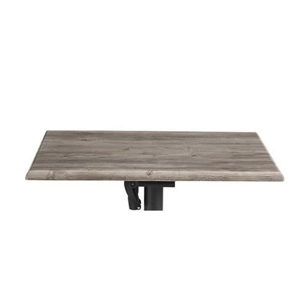 Picture of Grosfillex 24' X 32' Table Top Without Umbrella Hole In Aged Oak Pack Of 1