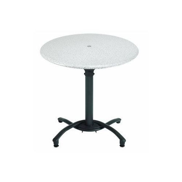 "Picture of Grosfillex 30"" Round Table Top Without Umbrella Hole In White Pack Of 1"