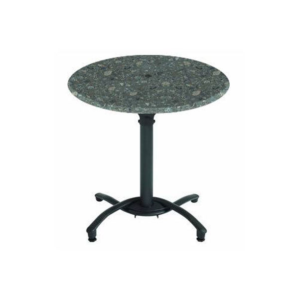 """Picture of Grosfillex 30"""" Round Table Top Without Umbrella Hole In Granite Green Pack Of 1"""