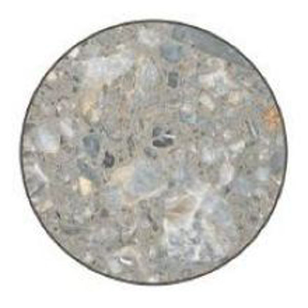 """Picture of Grosfillex 30"""" Round Table Top Without Umbrella Hole In Tokyo Stone Pack Of 1"""