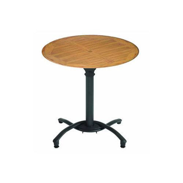 """Picture of Grosfillex 30"""" Round Table Top Without Umbrella Hole In Teak Decor Pack Of 1"""