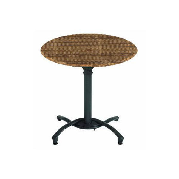 "Picture of Grosfillex 30"" Round Table Top Without Umbrella Hole In Wicker Pack Of 1"