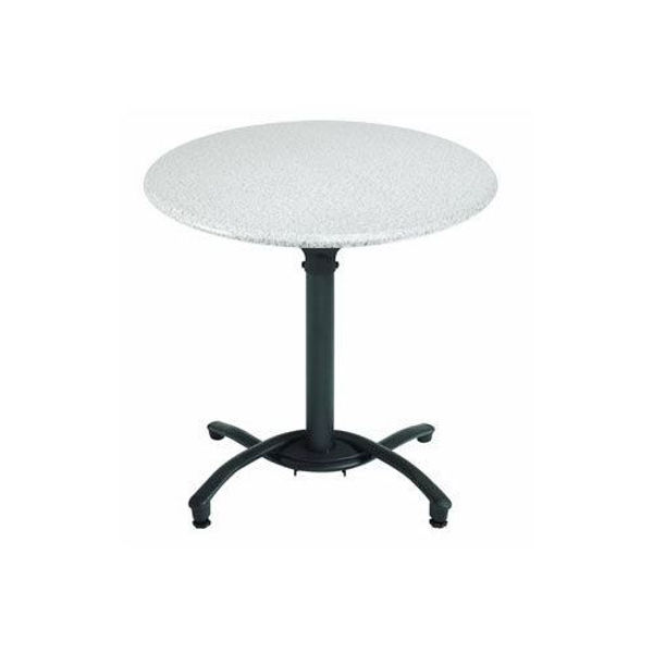 "Picture of Grosfillex 30"" Round Table Top Without Umbrella Hole In White Oak Pack Of 1"