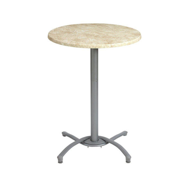 Picture of Grosfillex Bar Height Table Base In Silver Gray Pack Of 1