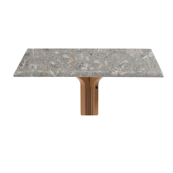 """Picture of Grosfillex 32"""" Square Table Top Without Umbrella Hole In Tokyo Stone Pack Of 1"""