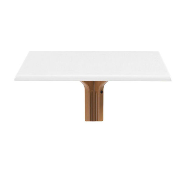 """Picture of Grosfillex 32"""" Square Table Top Without Umbrella Hole In White Oak Pack Of 1"""