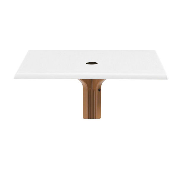 "Picture of Grosfillex 32"" Square Table Top With Umbrella Hole In White Oak Pack Of 1"