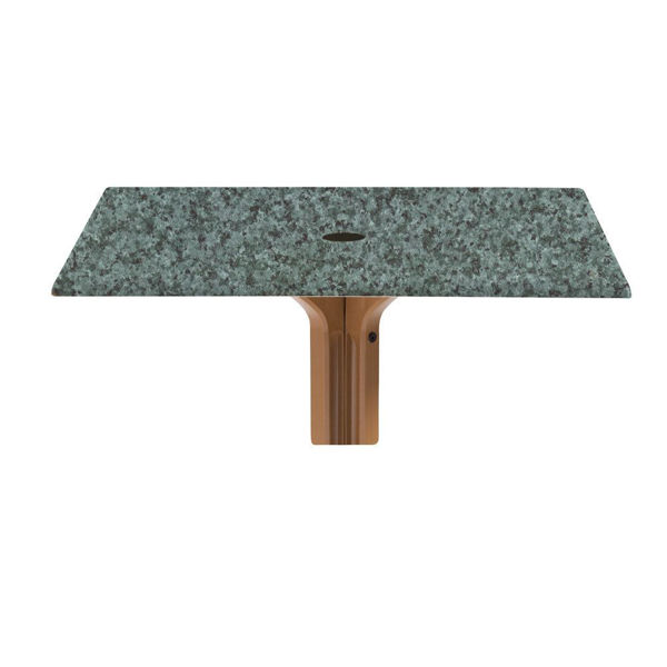 """Picture of Grosfillex 36"""" Square Table Top With Umbrella Hole In Granite Green Pack Of 1"""