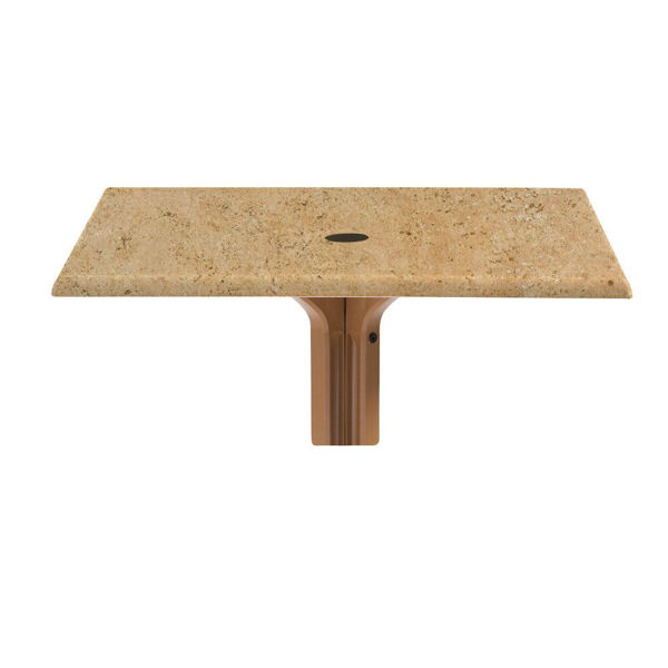 """Picture of Grosfillex 36"""" Square Table Top With Umbrella Hole In Catalan Pack Of 1"""