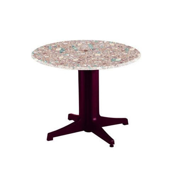 "Picture of Grosfillex 36"" Round Table Top With Umbrella Hole In Onyx Marble Pack Of 1"