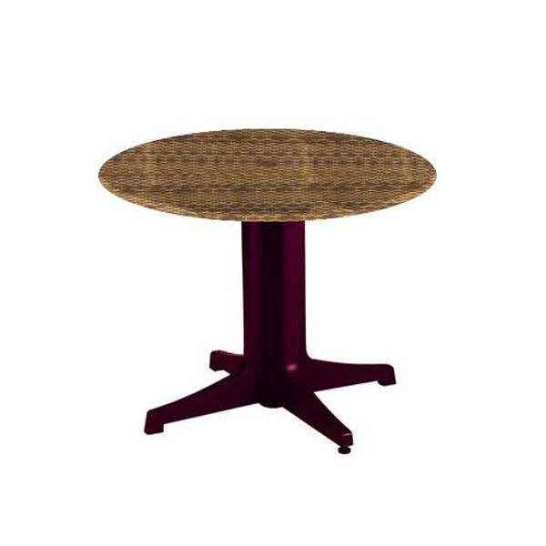 """Picture of Grosfillex 36"""" Round Table Top With Umbrella Hole In Wicker Pack Of 1"""