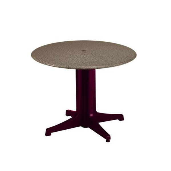 """Picture of Grosfillex 36"""" Round Table Top With Umbrella Hole In Boulder Pack Of 1"""