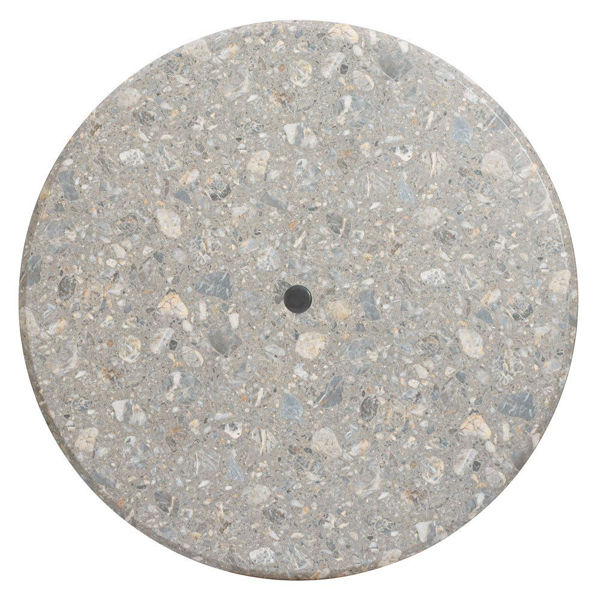 """Picture of Grosfillex 42"""" Round Table Top With Umbrella Hole In Tokyo Stone Pack Of 1"""