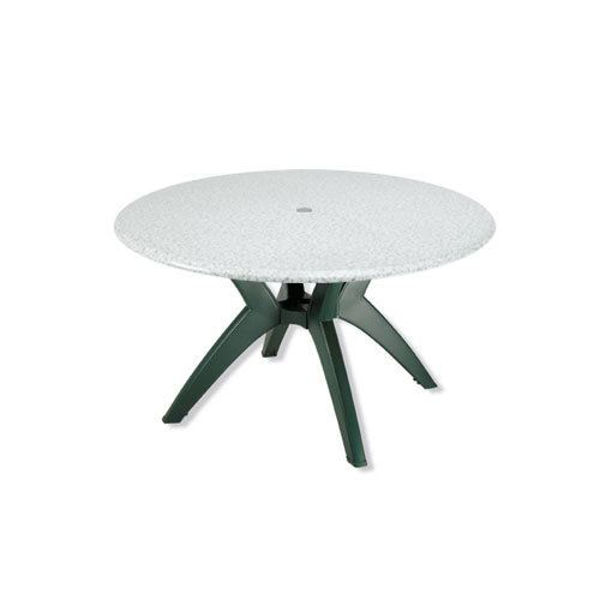 "Picture of Grosfillex 48"" Round Table Top With Umbrella Hole In Granite Green Pack Of 1"