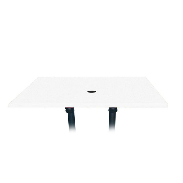 Picture of Grosfillex 48' x 32' Table Top With Umbrella Hole In White Pack Of 1