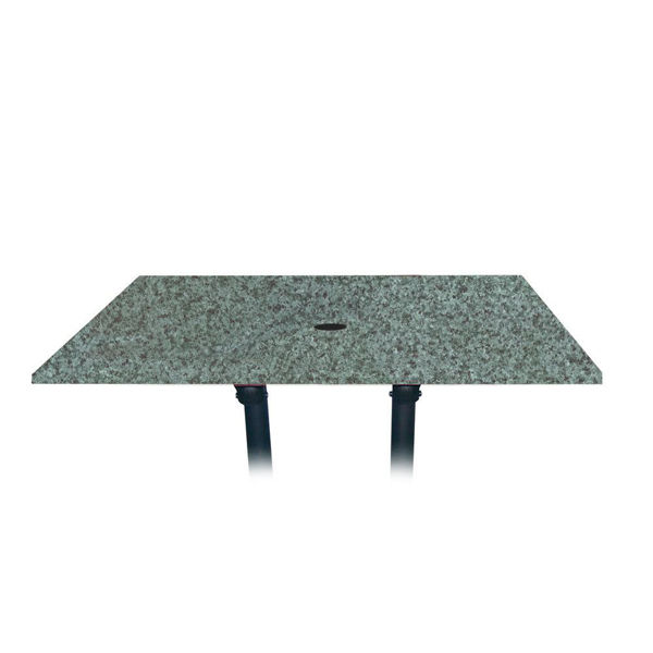 Picture of Grosfillex 48' x 32' Table Top With Umbrella Hole In Granite Green Pack Of 1