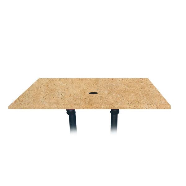 Picture of Grosfillex 48' x 32' Table Top With Umbrella Hole In Catalan Pack Of 1