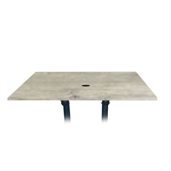Picture of Grosfillex 48' x 32' Table Top With Umbrella Hole In White Oak Pack Of 1